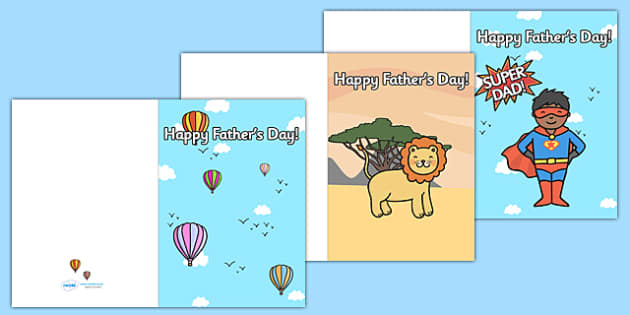 Father's Day Card Template - Design, father's day card, father's day cards, father's day activity, father's day resource, card, card template