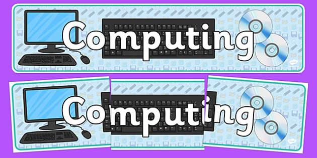 Computing Display Banner - computing, ict, display, banner, wall