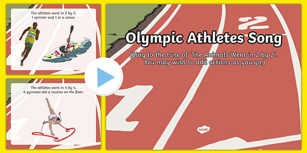 Olympic Athletes Song PowerPoint
