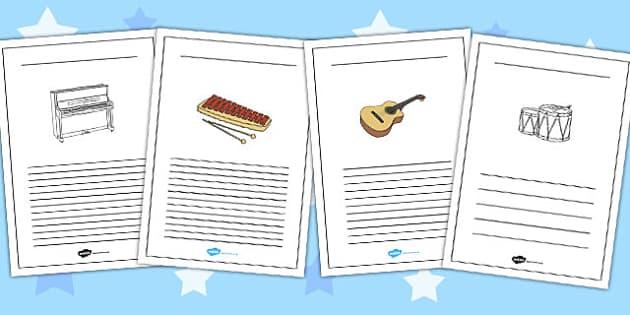 Musical Instrument Writing Frames - musical, instrument, frame