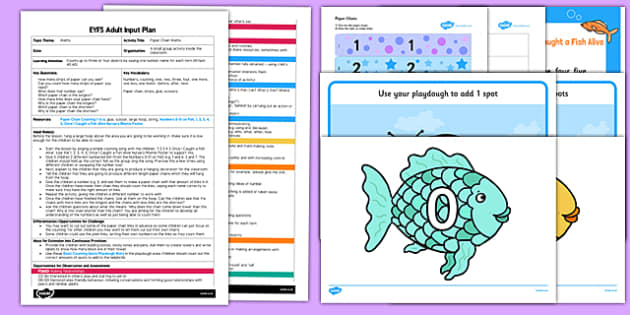 Paper Chain Maths EYFS Adult Input Plan and Resource Pack - adult led, eyfs, maths, counting, activity, numbers
