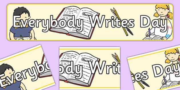 Everybody Writes Day Display Banner - banners, displays, display