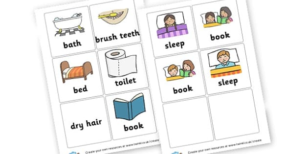 Bedtime Routine Cards - Visual Timetables Primary Resources, visual, timetables, routine