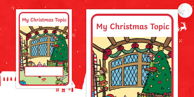 My Christmas Topic Editable Book Cover