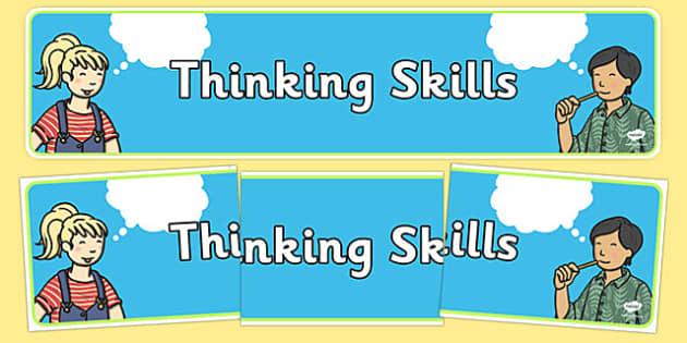 Thinking Skills Display Banner - thinking skills, display banner, banner, display, banner for display, display header, header for display, header