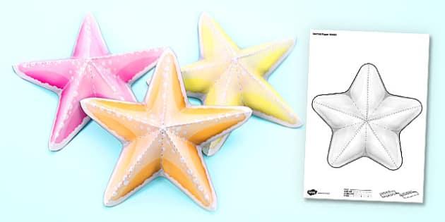 Under the Sea Simple 3D Starfish - 3d, starfish, under the sea