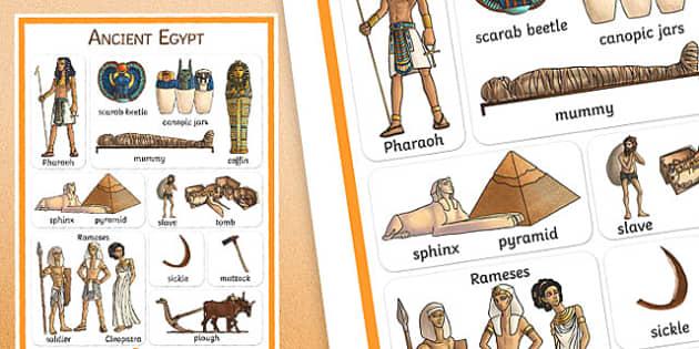 Ancient Egypt Vocabulary Poster - egypt, vocab mat, history, keyword