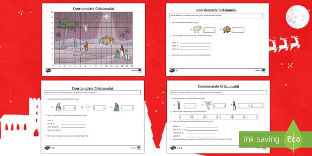 Coordonatele Crăciunului - crăciun, craciun, coordonate, materiale,a ctivități, jocuri, coordonate geografice, geografie, ma