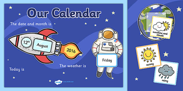 Space Themed Display Calendar - space, display calendar, space calendar, themed display calendar, calendar, classroom display, themed calendar, class dates