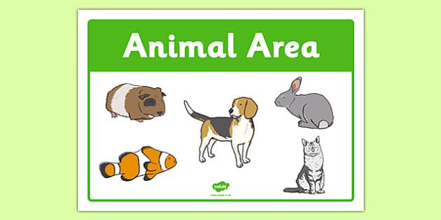 Animals Area Sign - animals area, area sign, sign, display sign, display, animals