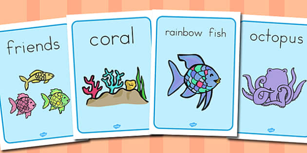 Display Posters to Support Teaching on The Rainbow Fish - australia, rainbow fish, posters