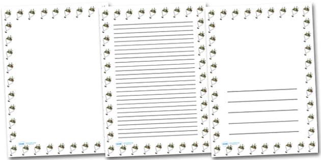 Bouquet Portrait Page Borders- Portrait Page Borders - Page border, border, writing template, writing aid, writing frame, a4 border, template, templates, landscape