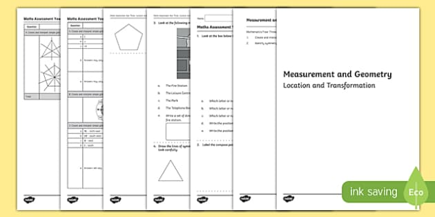 Year 3 Measurement and Geometry Location and Transformation Assessment - australia, year 3, measurement and geometry, measurement, geometry, location and transformation, assessment
