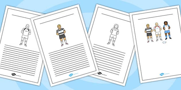 Rugby Writing Frames - rugby, writing frames, writing, frames