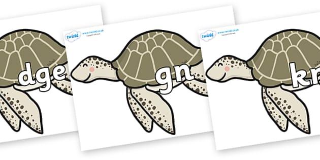 Silent Letters on Turtles - Silent Letters, silent letter, letter blend, consonant, consonants, digraph, trigraph, A-Z letters, literacy, alphabet, letters, alternative sounds