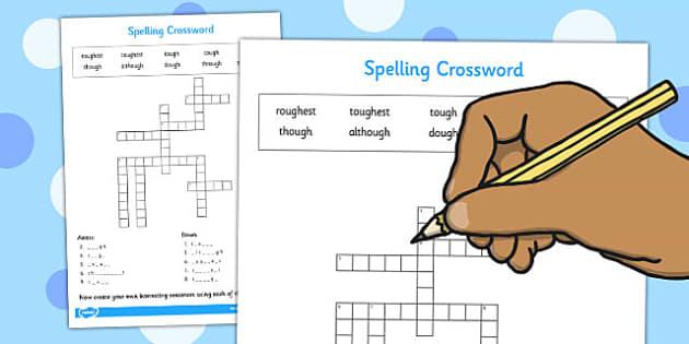 ough' Crossword - activity, activities, games, game, crosswords