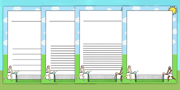 Wimbledon Themed Writing Frames - sports, sport, templates, pe