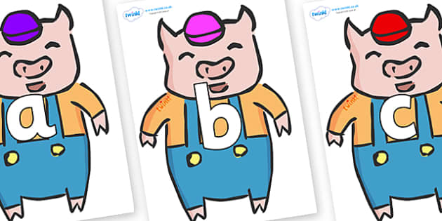 Phoneme Set on Little Pig - Phoneme set, phonemes, phoneme, Letters and Sounds, DfES, display, Phase 1, Phase 2, Phase 3, Phase 5, Foundation, Literacy