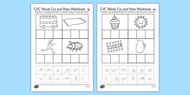 Cvc worksheets twinkl