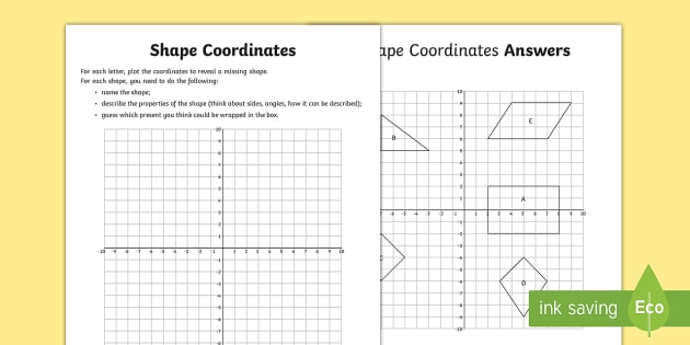 Coordinate worksheets year 6