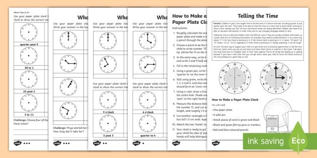 Oclock worksheets year 2
