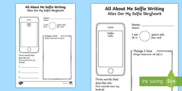 All about me worksheet early years