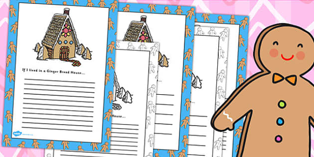 Write my gingerbread house writing paper printables