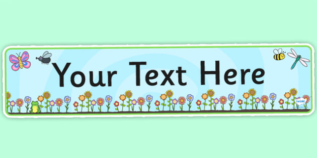 Springtime Themed Editable Banner Template - springtime