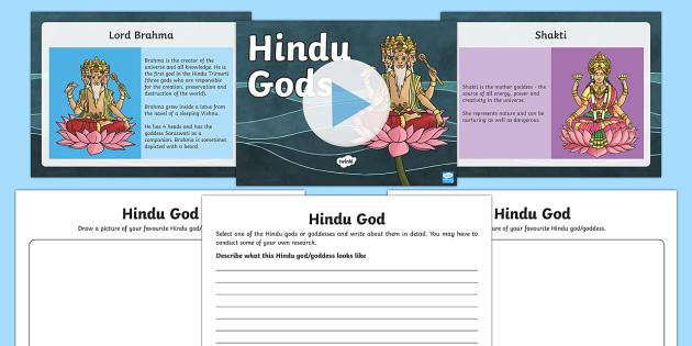 Hindu Gods Information PowerPoint and Worksheet Pack hindu – Hinduism Worksheet