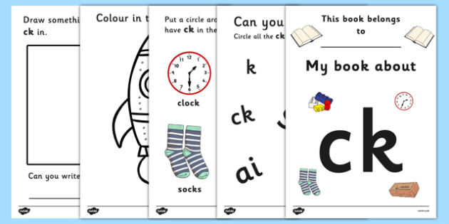 Letters and Sounds Workbook g o c k Letters and Sounds – Ck Worksheets