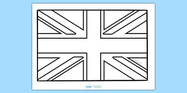 Union Jack Colouring Sheet
