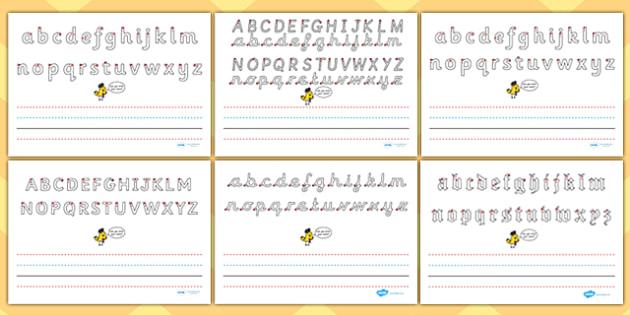 Name Writing Worksheet Write name line guide landscape – Name Trace Worksheet