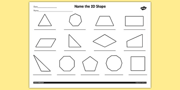 Name the 2D Shape Year 4 Worksheet worksheet 2d shape year – 2d Shapes Worksheets