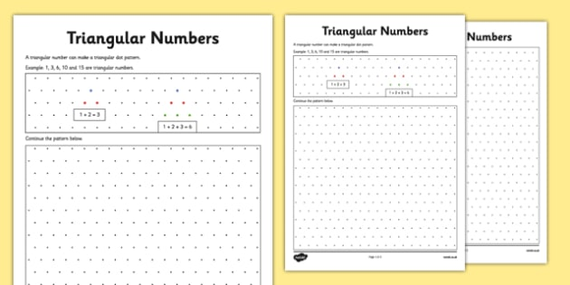 Triangular Numbers on Isometric Dot Paper CfE number – Isometric Dot Paper