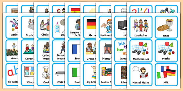 KS1 Visual Timetable - Visual Timetable, SEN, Daily Timetable
