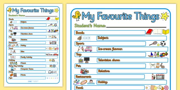 My Favourite Things Huawei P9 – My Favorite Things Worksheet