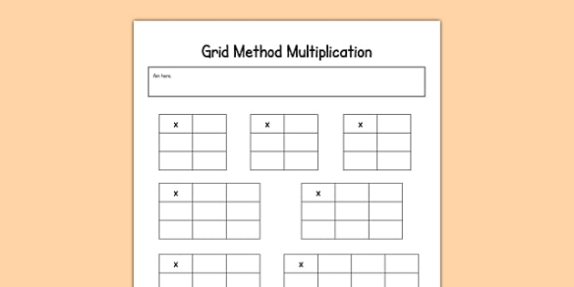 Editable Grid Method Multiplication Grids maths calculation – Ks2 Grid Method Multiplication Worksheet