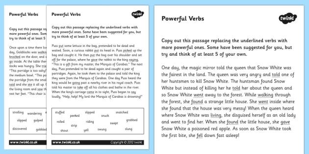 Powerful Verbs Worksheets verbs verbs worksheets powerful – To Be Verbs Worksheet