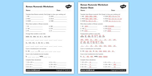 Roman Numerals Worksheet roman roman numerals numerals – Roman Numerals Worksheets