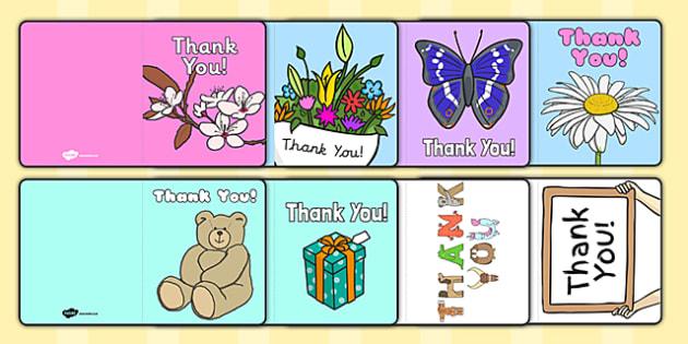 Thank You Card Writing Template - Blank editable card templates