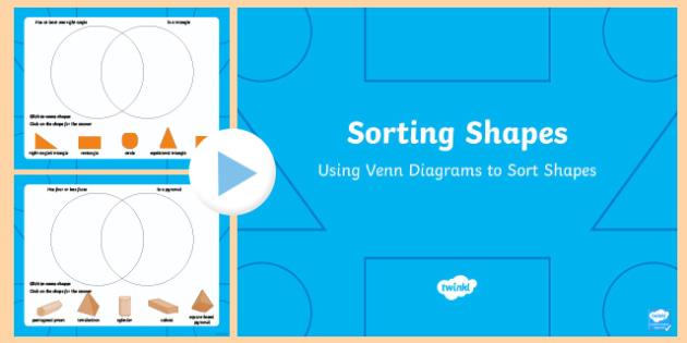Venn Diagram Shape Sorting: Shapes in a Venn Diagram PowerPoint,Chart