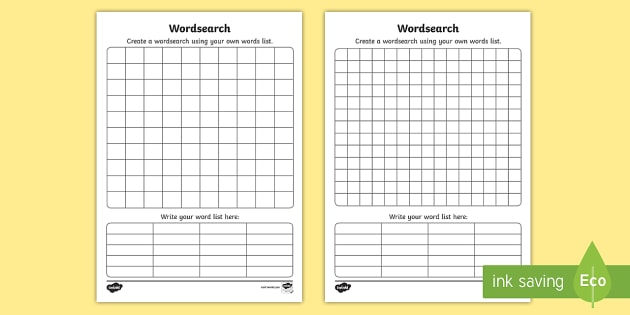 Word Search Template word search word game find the word – Words Template