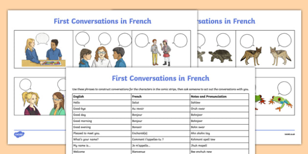 French Greetings Activity Sheet worksheet first – French Greetings Worksheet