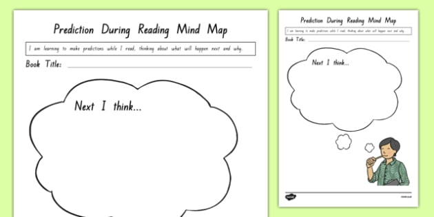 During Reading Mind Map Activity Sheet worksheet – Predicting Outcomes Worksheets