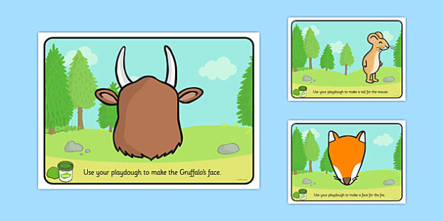 The Gruffalo Playdough Mats - the gruffalo, playdough mat, play doh mat, playdoh mat, play dough, fine motor skills, art, art mat, themed games, games, fun