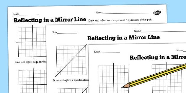 in a Mirror Line Worksheet reflections mirror – Axis of Symmetry Worksheet