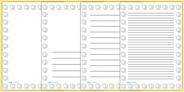 Lined Paper Portrait Page Borders Portrait Page Borders Page – Blank Line Paper