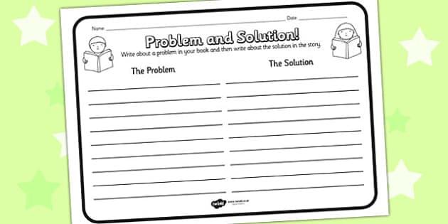 Problem Solution Reading Comprehension Activity problem – Problem Solution Worksheet