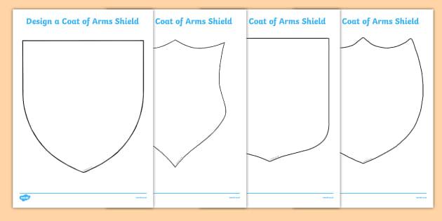 Fairytale Castle Design a Coat of Arms Shield Fairytale Castle – Coat of Arms Template