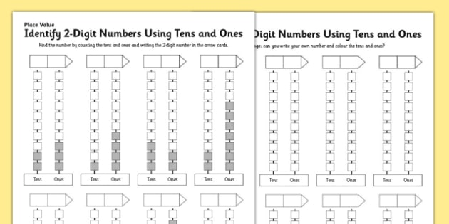 Number Names Worksheets place value tens and ones worksheet : KS1 Maths Place Value Identify 2-Digit Numbers Using Tens and